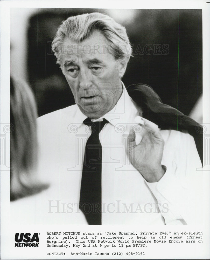 Press Photo Jake Spanner Private Eye Actor USA Network Movie - Historic Images