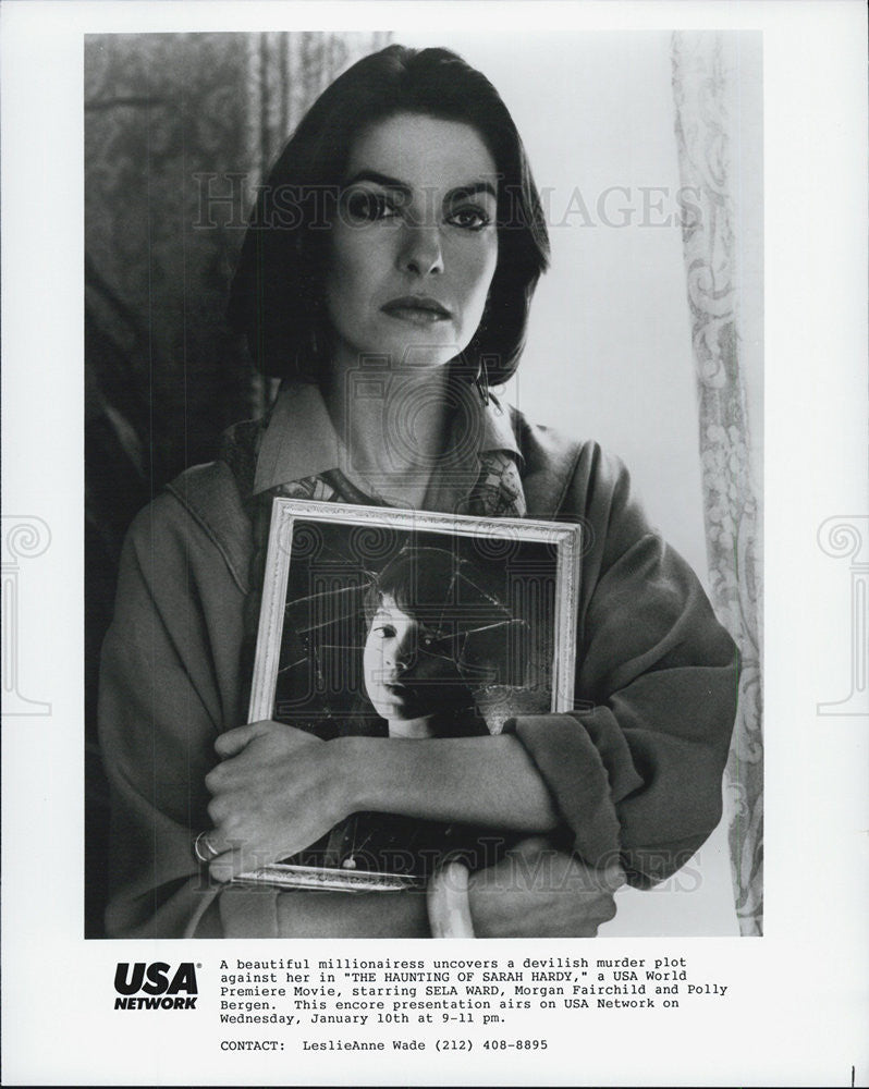 "1989 Press Photo Sela Ward in ""The Haunting of Sarah Hardy"" - Historic Images"