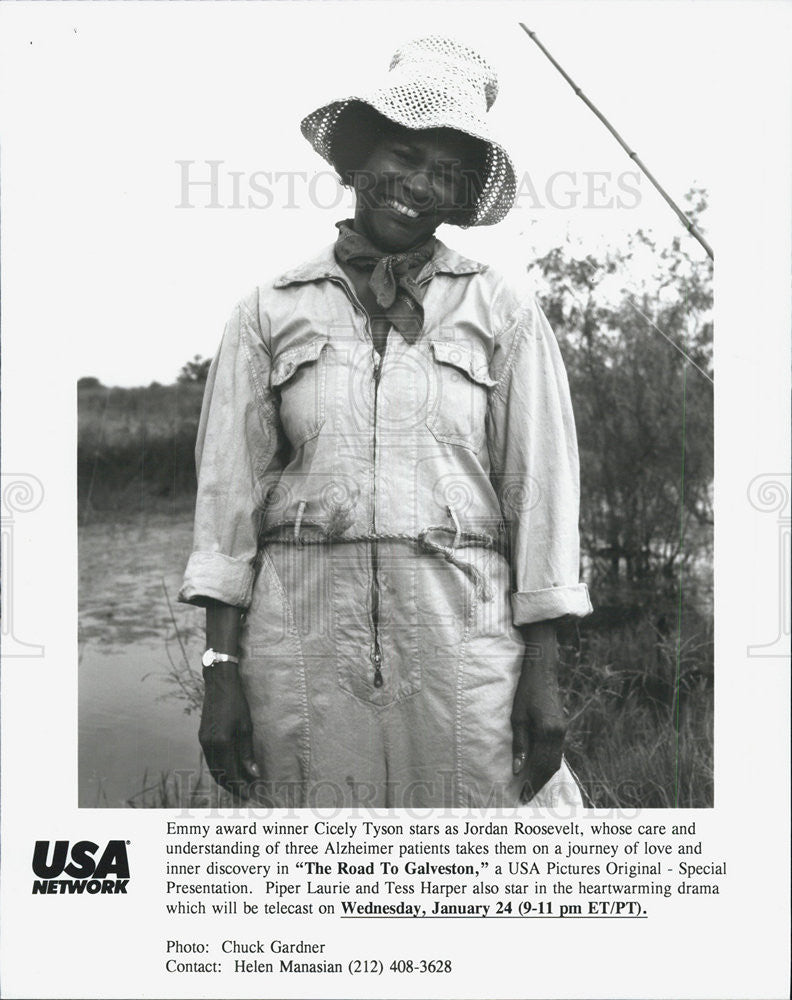 "1996 Press Photo Cicely Tyson in ""The Road to Galveston"" - Historic Images"