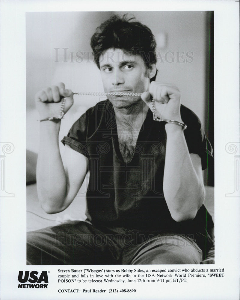 1991 Press Photo Sweet Poison Steven Bauer - Historic Images