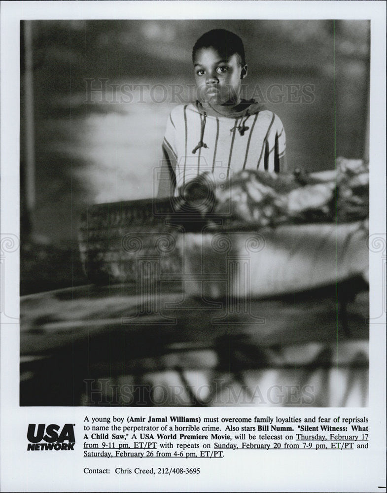 1994 Press Photo Silent Witness: What A Child Saw Amir Jamal Williams - Historic Images