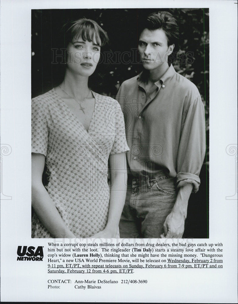 1994 Press Photo Dangerous Heart Tim Dally Lauren Holly - Historic Images