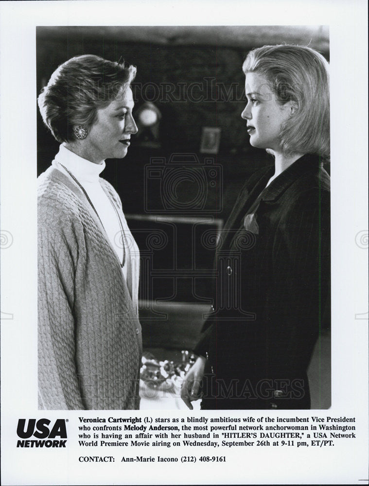 "1990 Press Photo Veronica Cartwright & Malody Anderson in ""Hitler's Daughter"" - Historic Images"