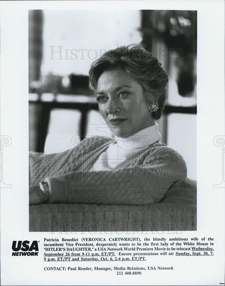 "1990 Press Photo Veronica Cartwright in ""Hitler's Daughter"" - Historic Images"