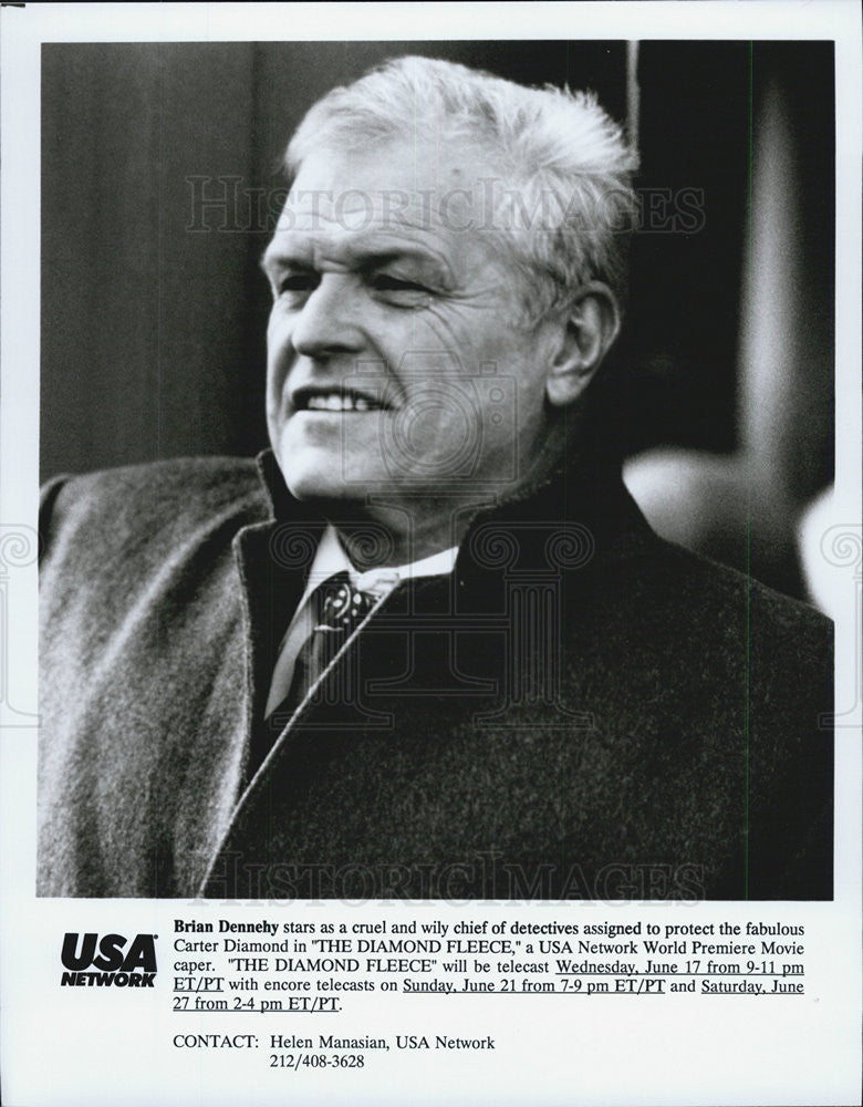 1992 Press Photo The Diamond Fleece Brian Dennehy - Historic Images