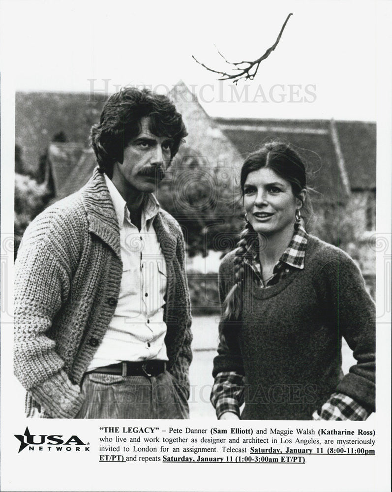 "1978 Press Photo Sam Elliott and Katherine Ross in ""The Legacy"" - Historic Images"