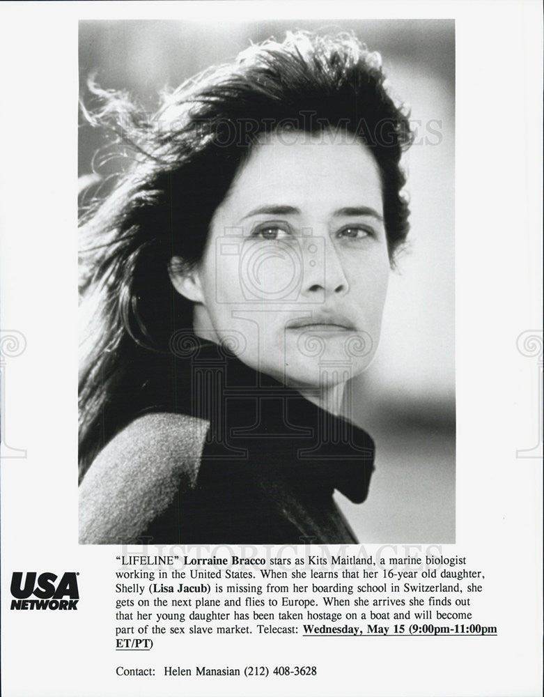 "1997 Press Photo Lorraine Bracco in ""Lifeline"" - Historic Images"