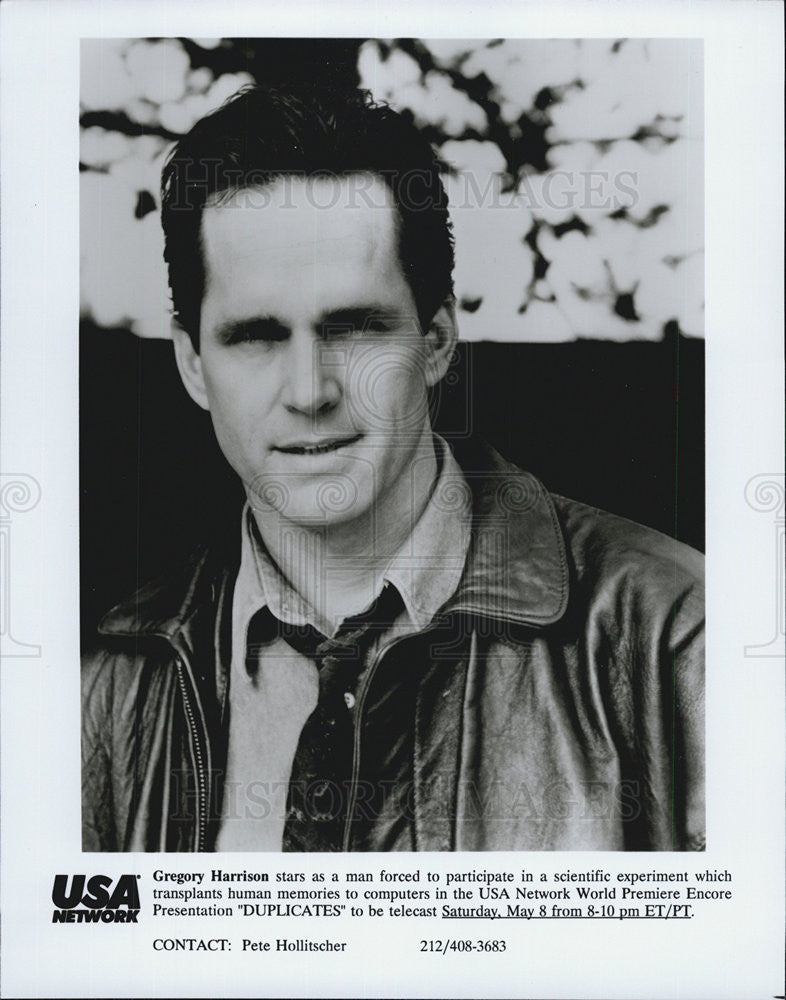 "1998 Press Photo Gregory Harrison in ""Duplicates"" - Historic Images"