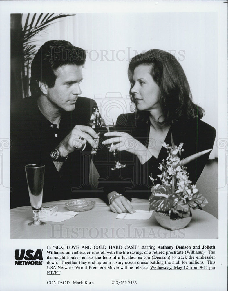 "1993 Press Photo ""Sex,Love And Cold Hard Cash"" Anthony Denison *& JoBethWilliams - Historic Images"