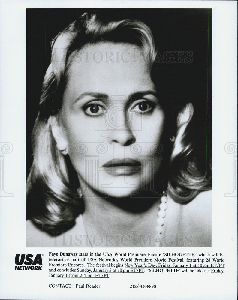 "Press Photo Faye Dunaway in ""Silhouette"" - Historic Images"