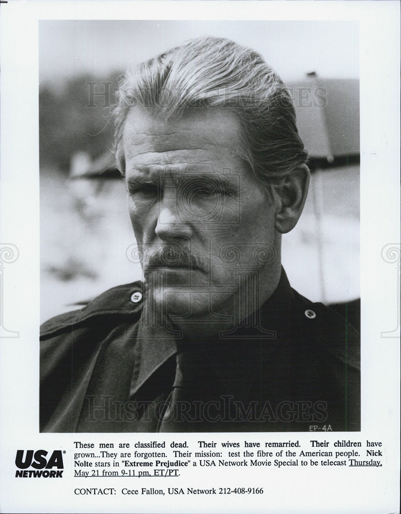 "1987 Press Photo Nick Nolte in ""Extreme Prejudice"" - Historic Images"