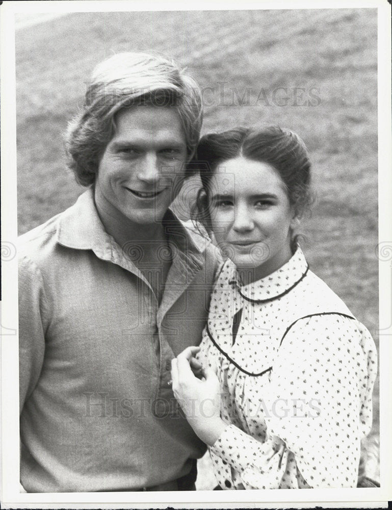 "1980 Press Photo Dean Butler & Melissa Gilbert in ""Little House on the Prairie."" - Historic Images"