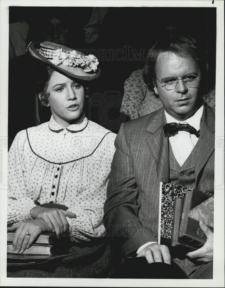 1981 Press Photo Melissa Gilbert,Patrick Collins in Little House on the Prairie - Historic Images