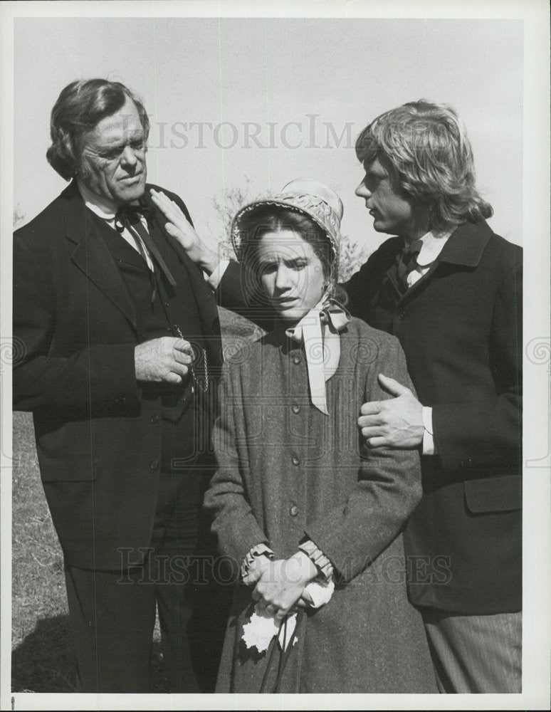 1983 Press Photo Dean Butler, Melissa Gilbert, Kevin Hagen - Historic Images
