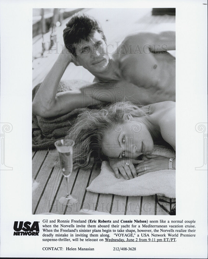 Press Photo Eric Roberts, Connie Nielsen, Voyage - Historic Images