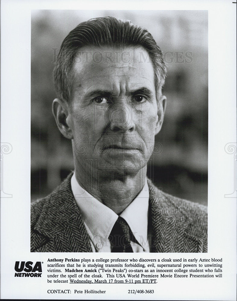 Press Photo Anthony Perkins, USA Network - Historic Images