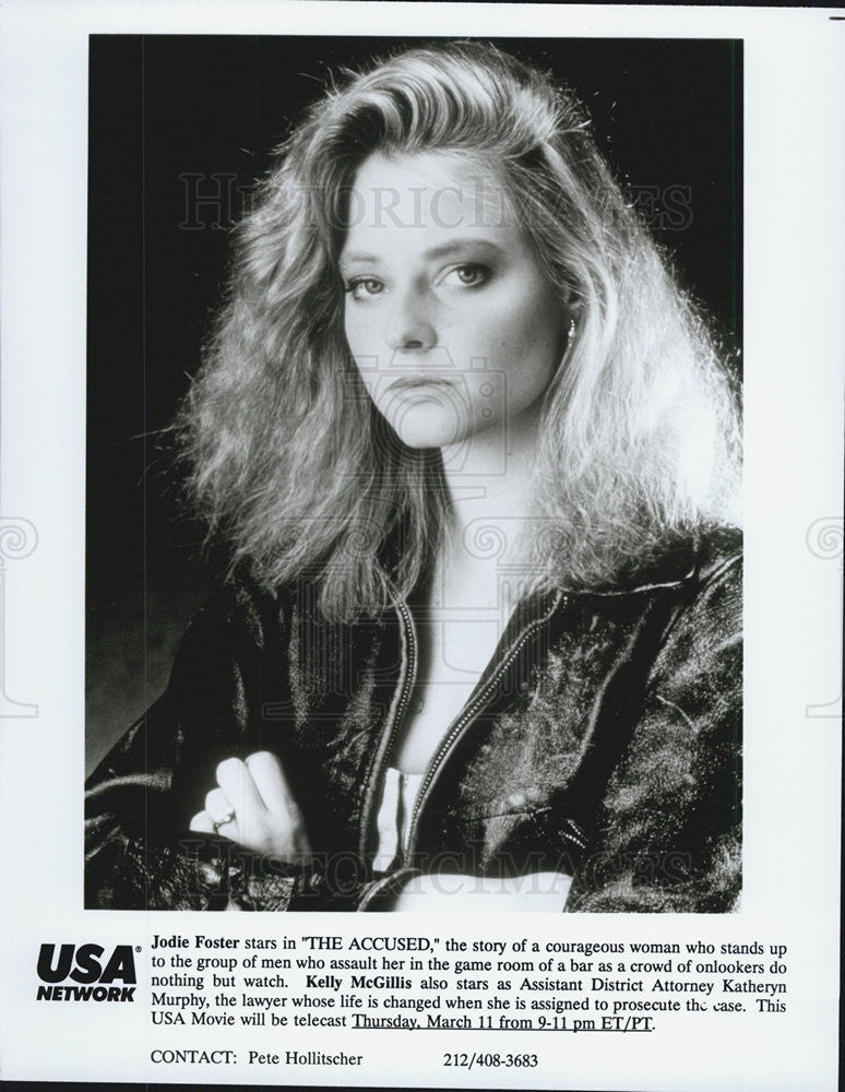 Press Photo Jodie Foster, The Accused - Historic Images