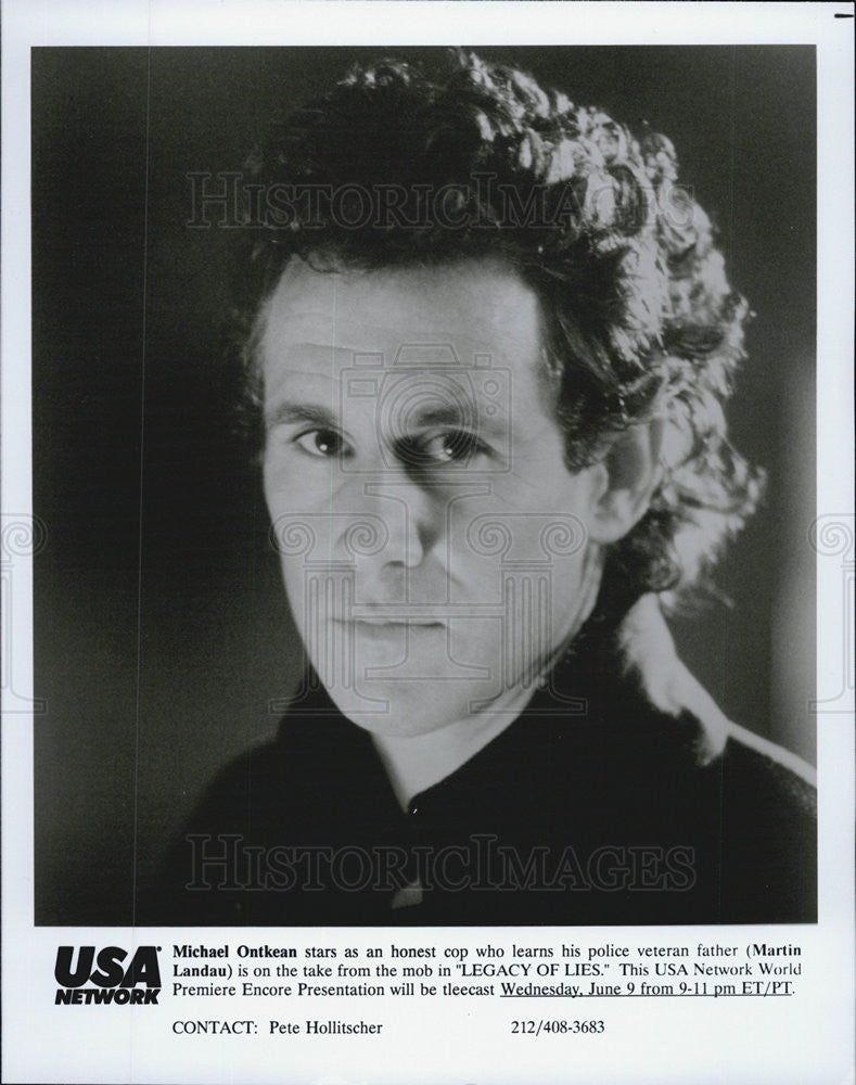 "1992 Press Photo Michael Ontkean on ""Legacy of Lies"" - Historic Images"