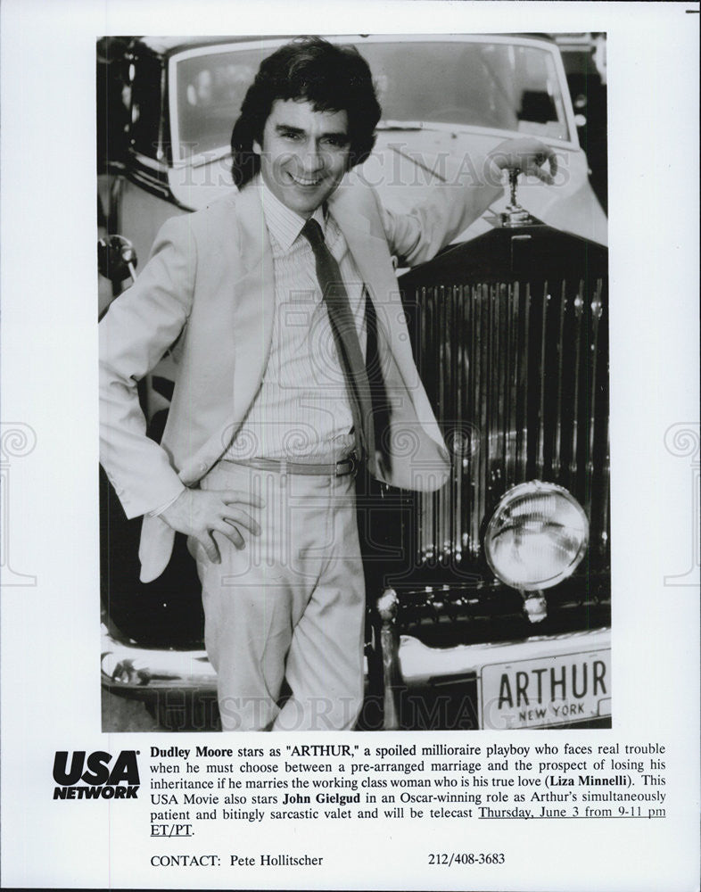 "Press Photo of Dudley Moore, starring in ""Arthur"" on the USA Network - Historic Images"