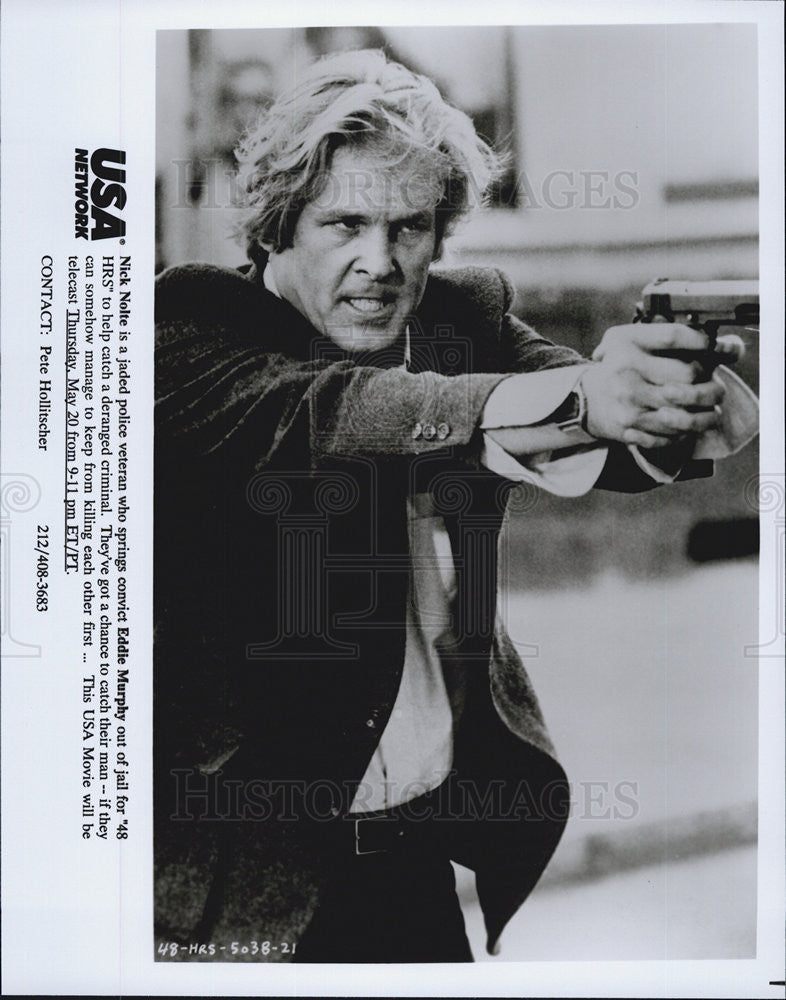"1982 Press Photo Nick Nolte in ""48 Hours"" the movie. - Historic Images"