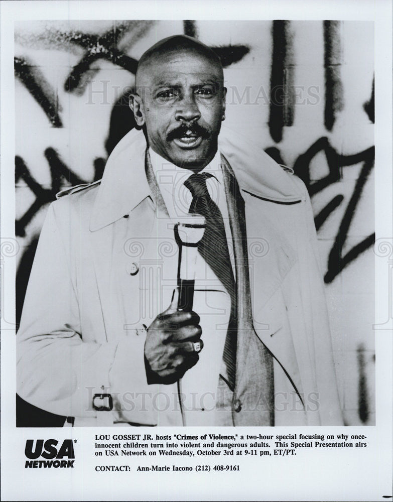 "1990 Press Photo Lou Gossett Jr. in ""Crimes of Violence."" - Historic Images"