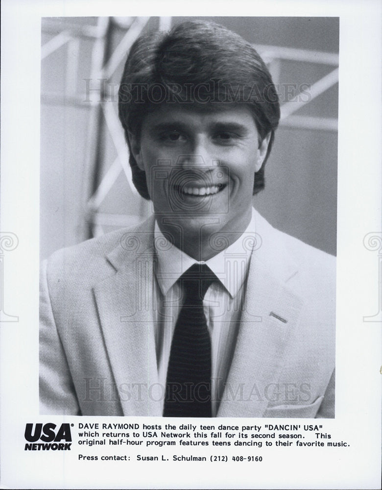 1986 Press Photo Dave Raymond, Dancin USA - Historic Images