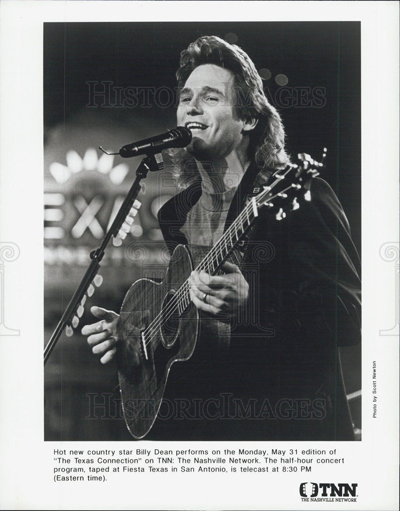 Press Photo Musician Billy Dean - Historic Images