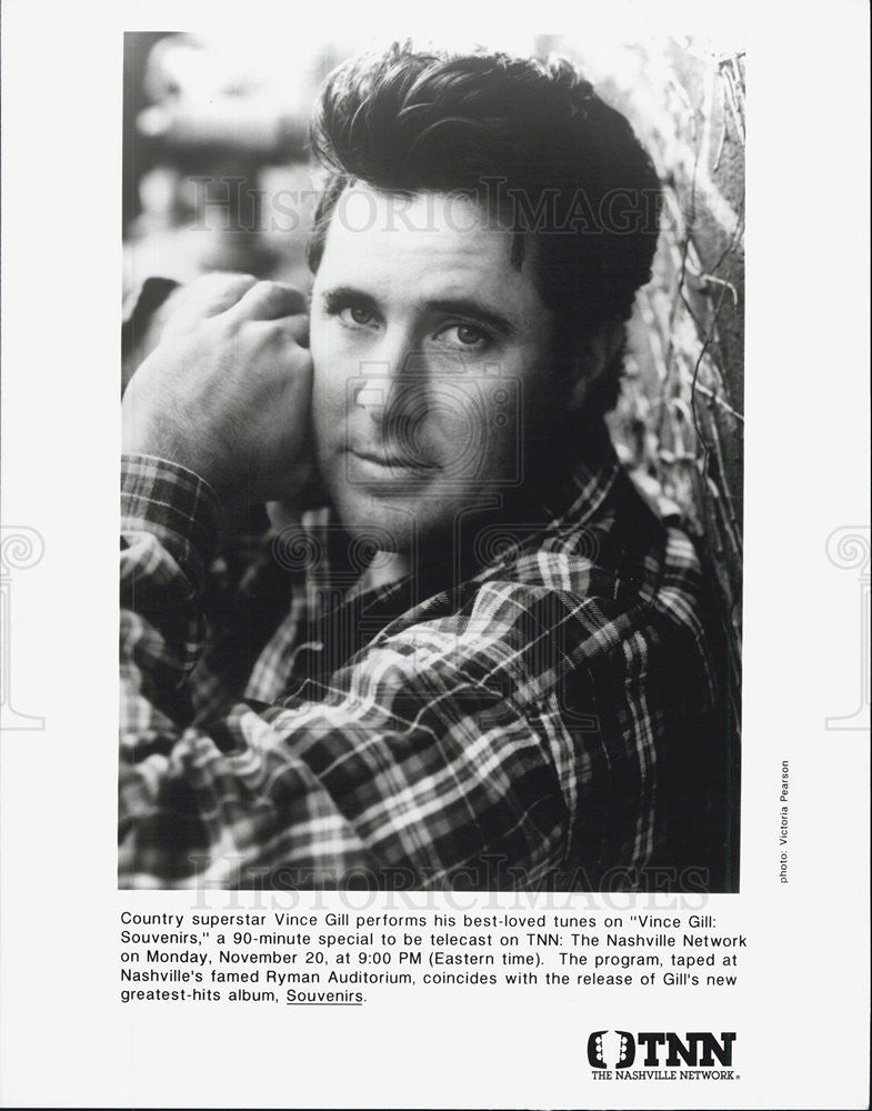 Press Photo Singer Vince Gill - Historic Images