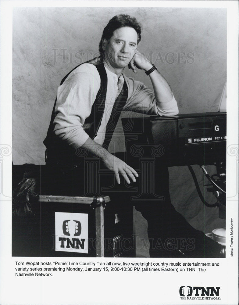 Press Photo Host Tom Wopat, Prime Time Country - Historic Images