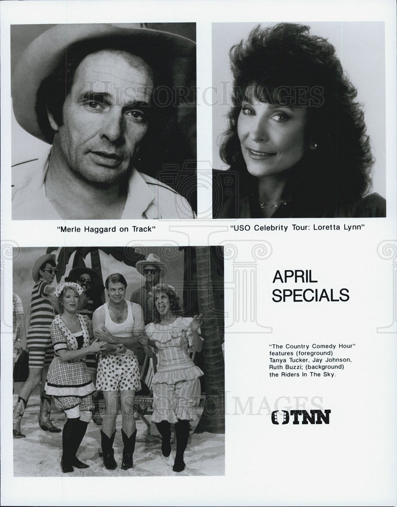 Press Photo Merle Haggard,Loretta Lynn,Tanya Tucker,Jay Johnson,Ruth Buzzi - Historic Images