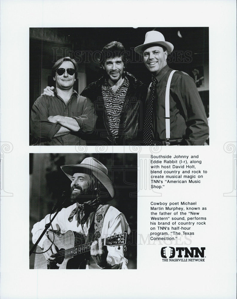Press Photo Southside Johnny Eddie Rabbit Michael Martin Murphy TEXAS CONNECTION - Historic Images