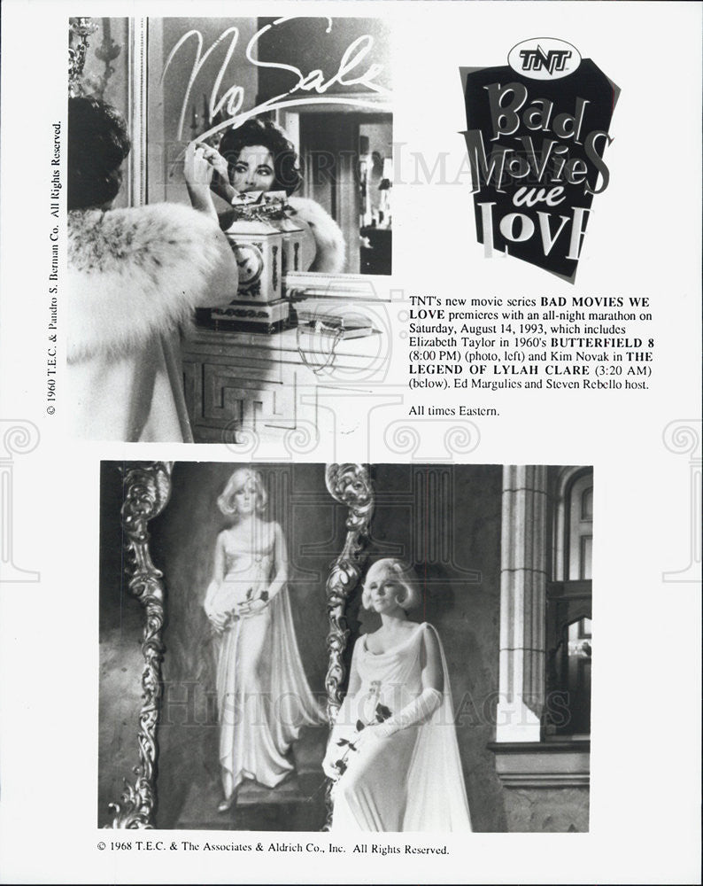 1968 Press Photo Elizabeth Taylor & Kim Novak - Historic Images