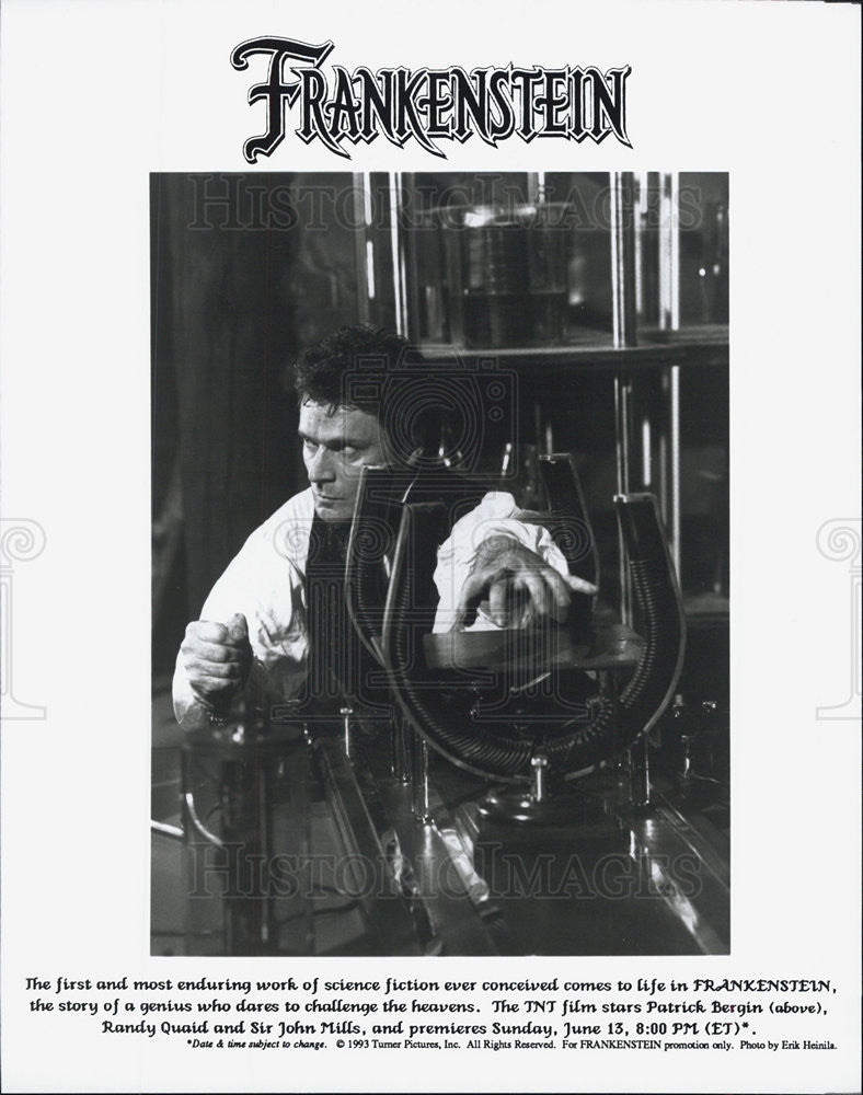 1993 Press Photo Patrick Bergin, Frankenstein - Historic Images