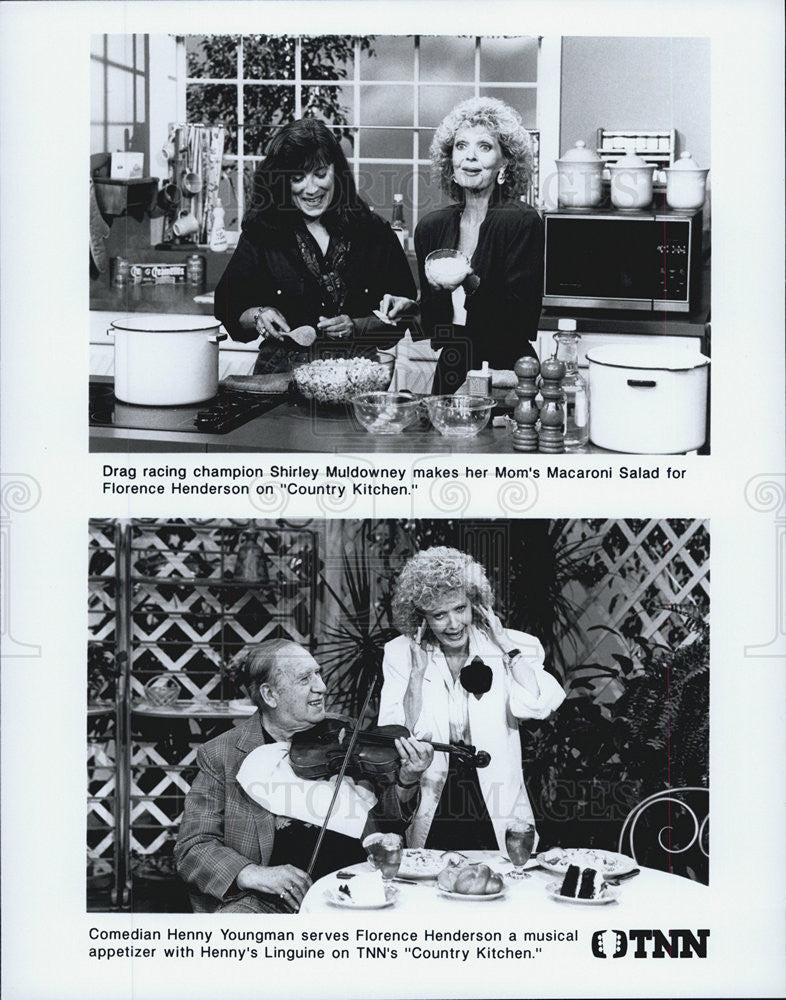 Press Photo Shirley Muldowney, Country Kitchen, Henny Yougman Florence Henderson - Historic Images