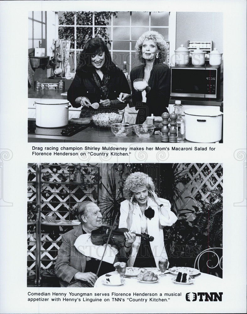 Press Photo Florence Henderson Country Kitchen Television Star - Historic Images