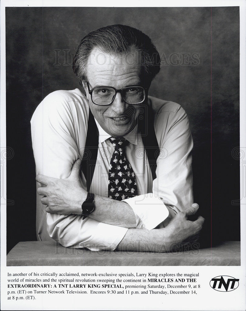 Press Photo Larry King Miracles And The Extraordinary TNT Television Actor - Historic Images