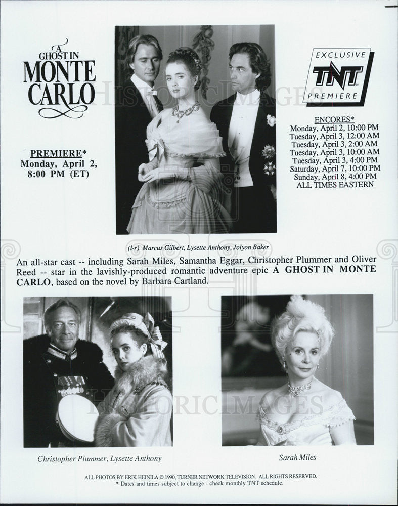 "1990 Press Photo Scenes from ""A Ghost in Monte Carlo"" - Historic Images"
