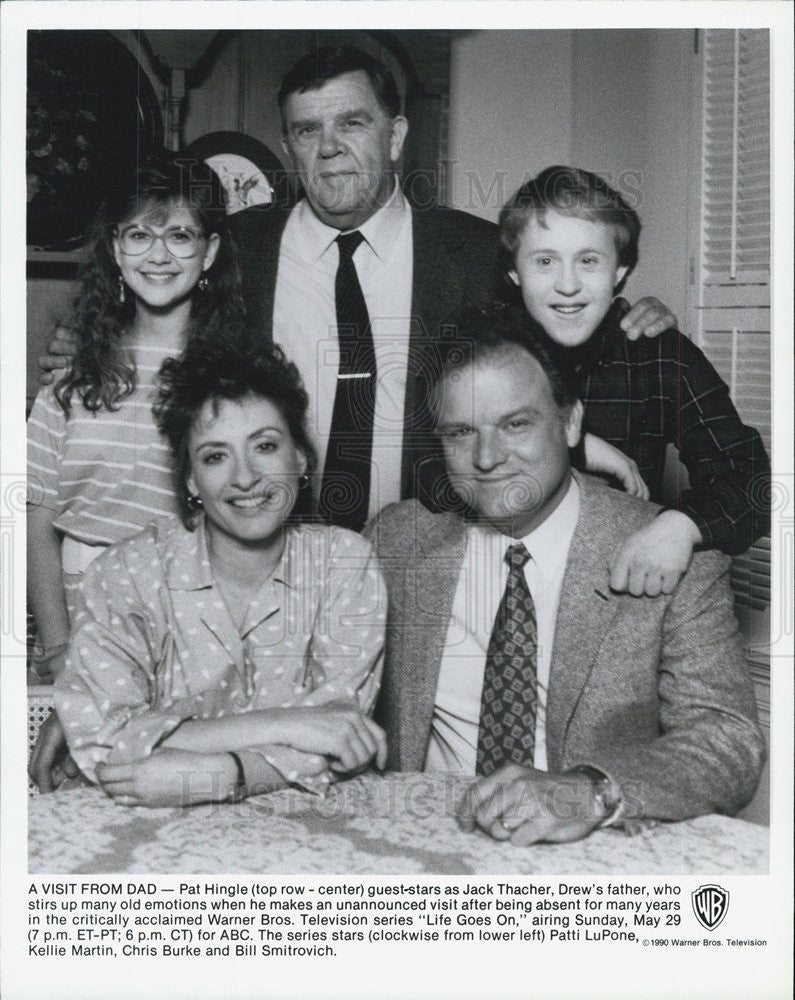 "1990 Press Photo of the cast of TV series ""Life Goes On"" - Historic Images"