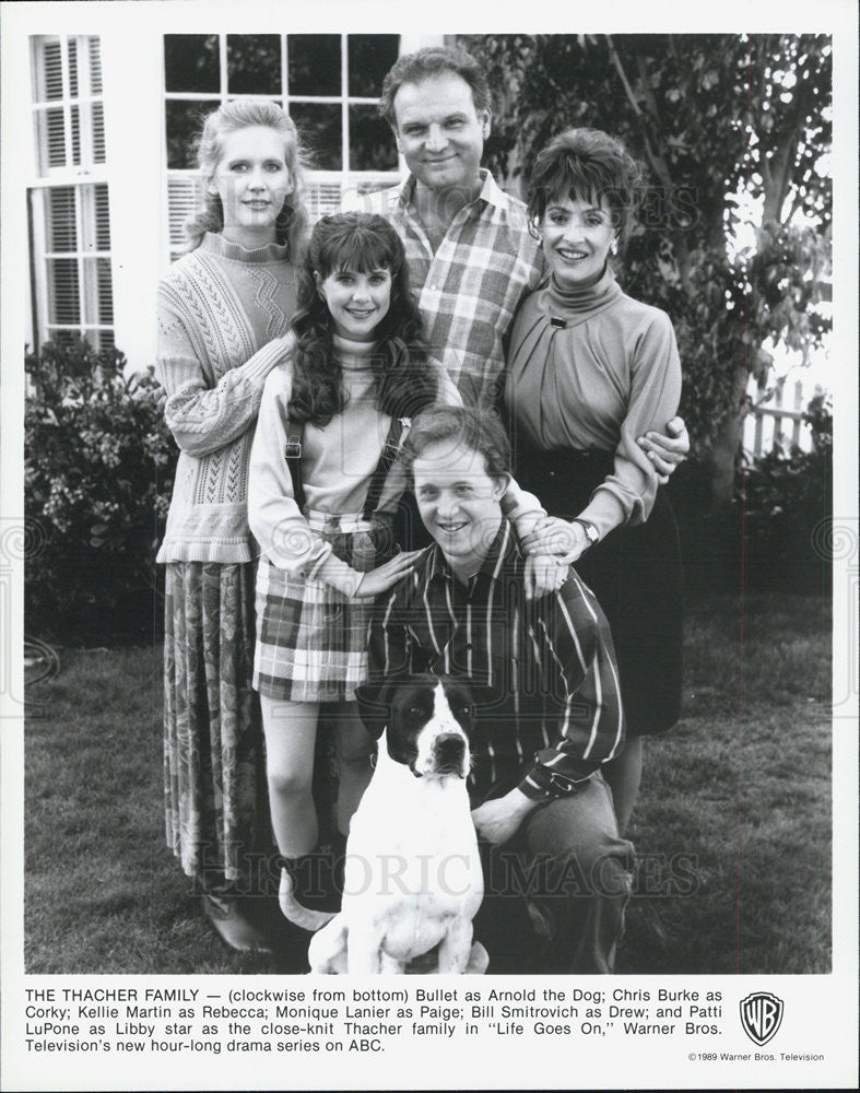 "1989 Press Photo of the Thatcher family of TV series ""Life Goes On"" - Historic Images"