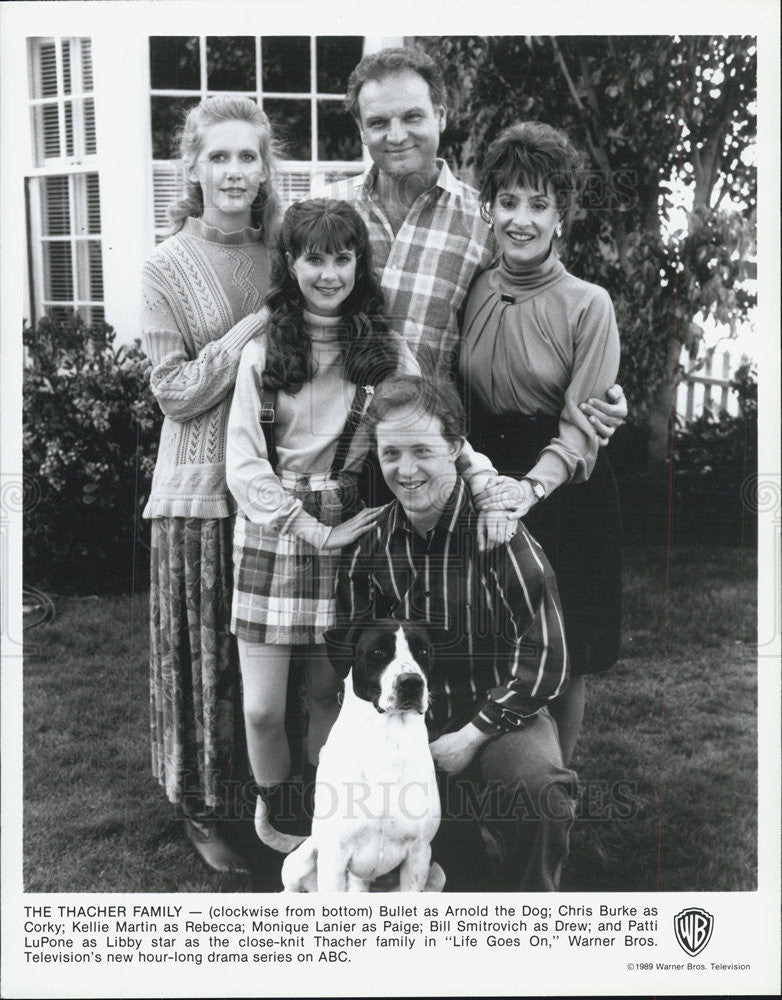 "1989 Press Photo of the Thacher family of TV series ""Life Goes On"" - Historic Images"