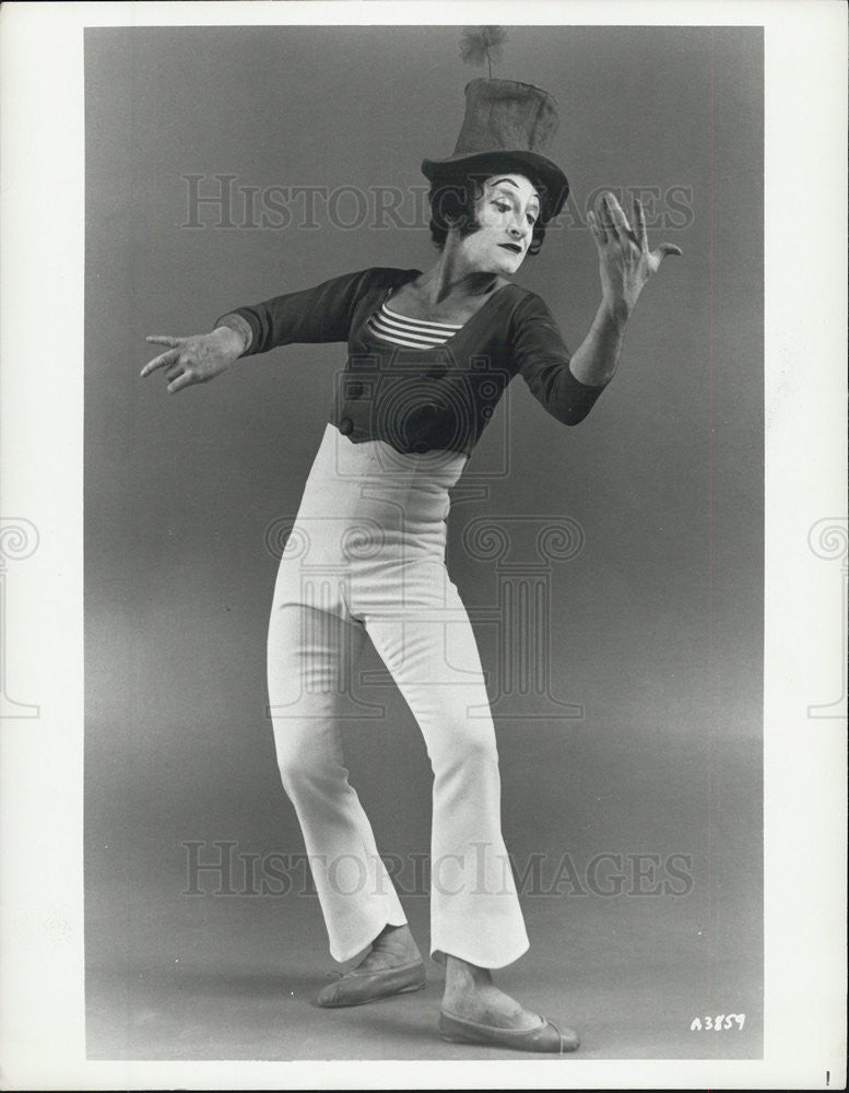 Press Photo Mime Comedian Television Performer - Historic Images