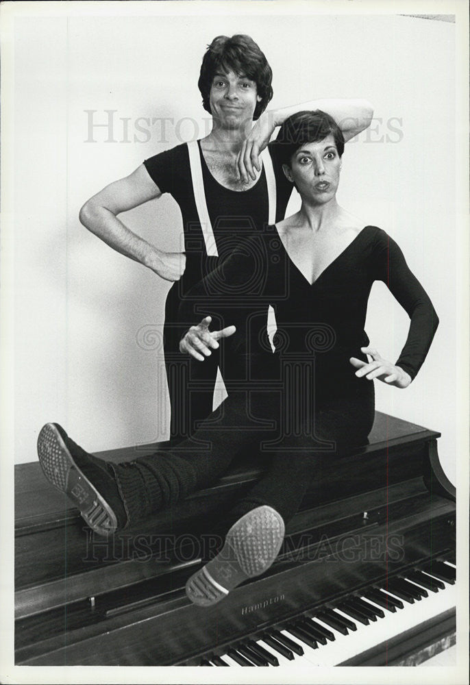1981 Press Photo The team of Robert Shields and his wife as mime artists - Historic Images
