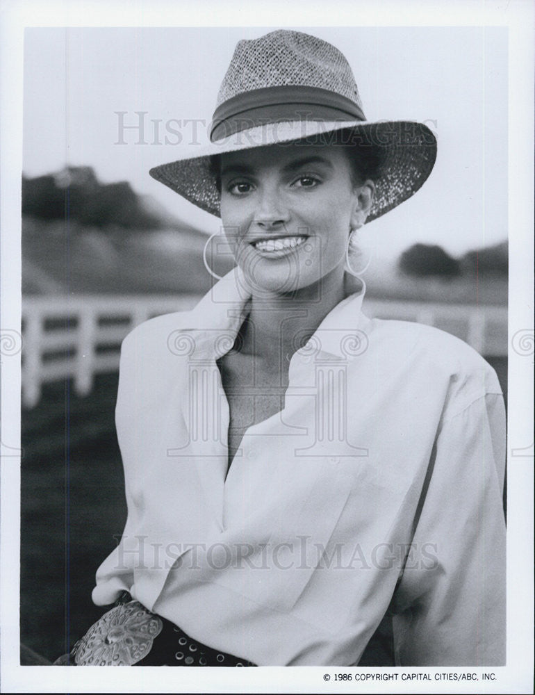 1986 Press Photo Kim Morgan Greene The Colbys Television Program - Historic Images