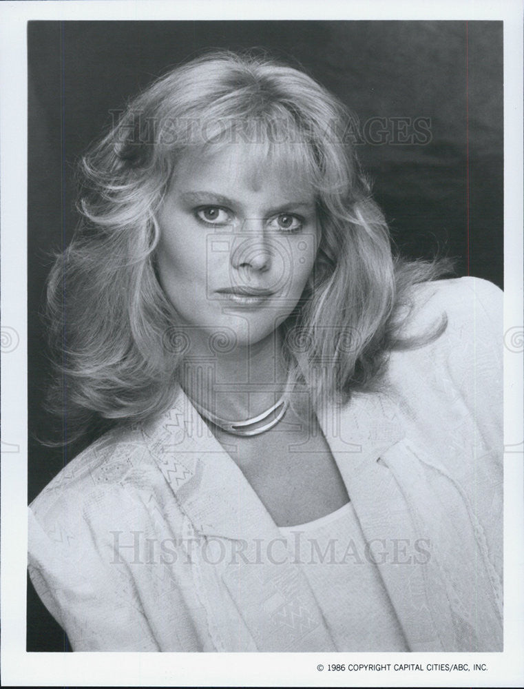 1986 Press Photo Claire Yarlett in The Colbys - Historic Images