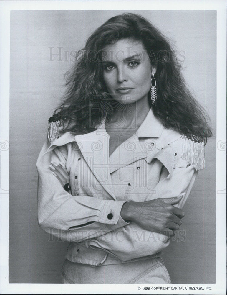 1986 Press Photo Tracy Scoggins The Colbys Television Show - Historic Images