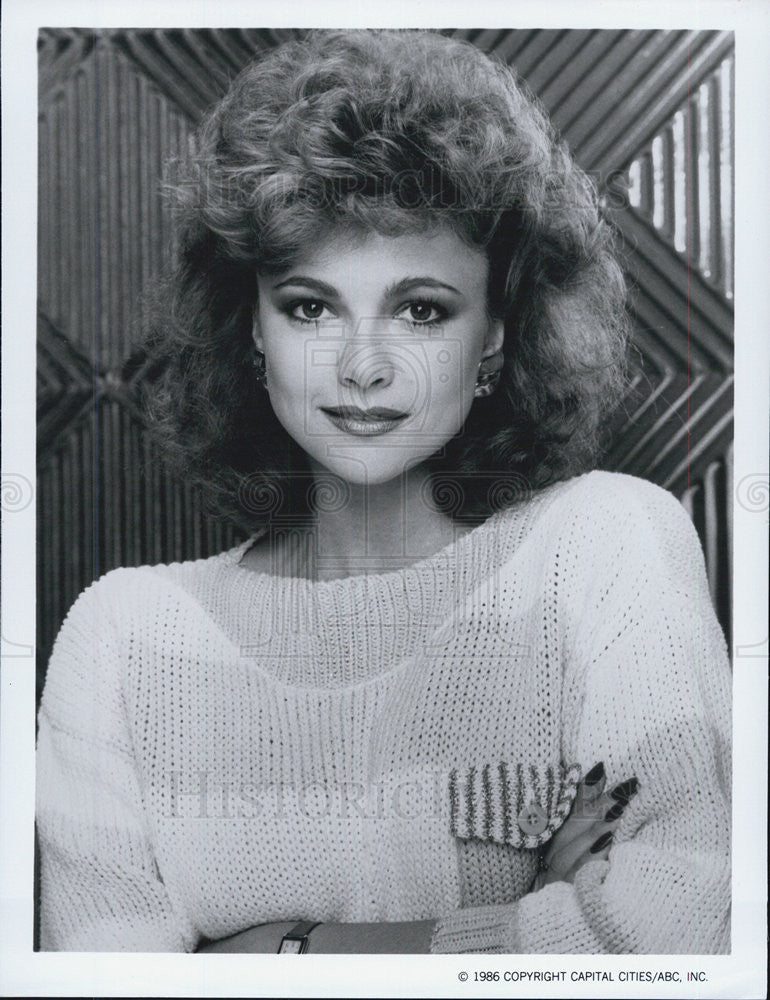 1986 Press Photo Emma Samms The Colbys Television Show - Historic Images