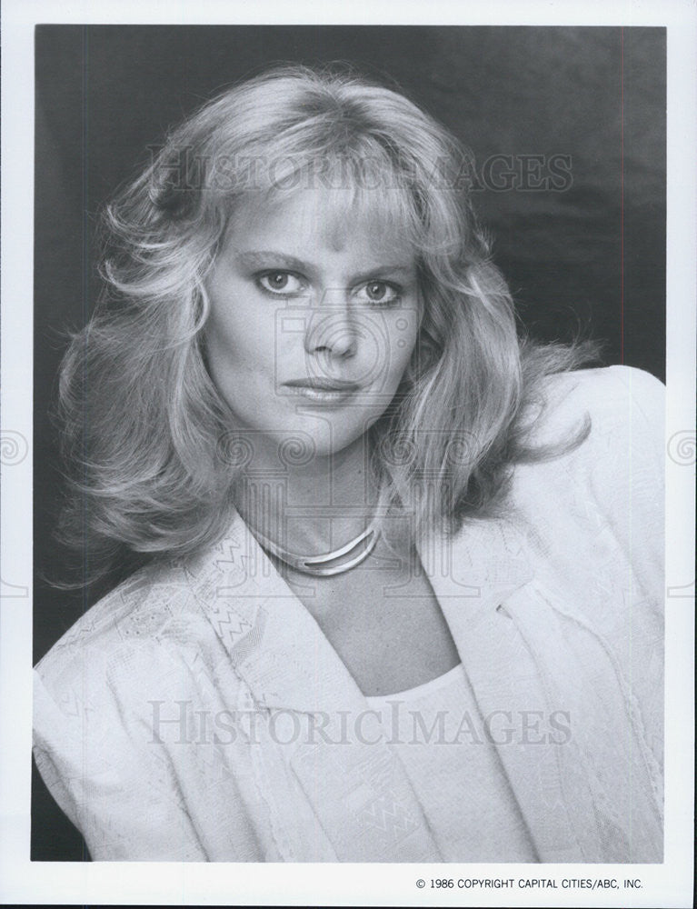 1986 Press Photo Claire Yarlett The Colbys Television Show ABC - Historic Images
