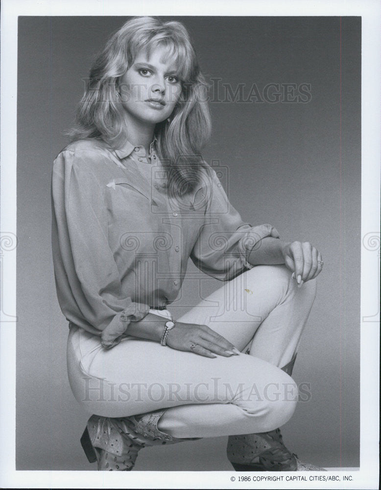 1986 Press Photo Claire Yarlett The Colbys Television Program - Historic Images