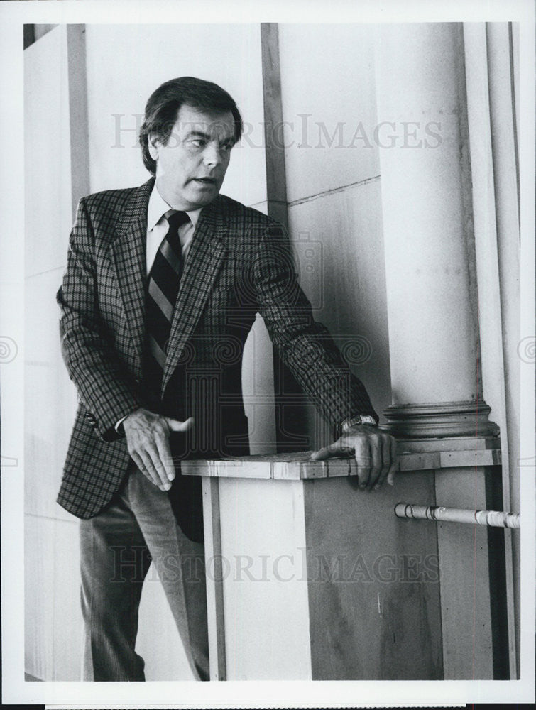 1985 Press Photo Robert Wagner actor in J. G. Culver - Historic Images