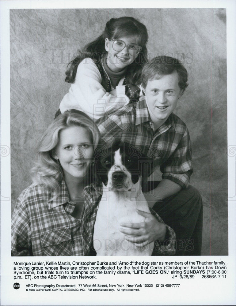 "1989 Press Photo ""Life Goes On""Monique Lanier,Kelli Martin,Christopher Burke - Historic Images"